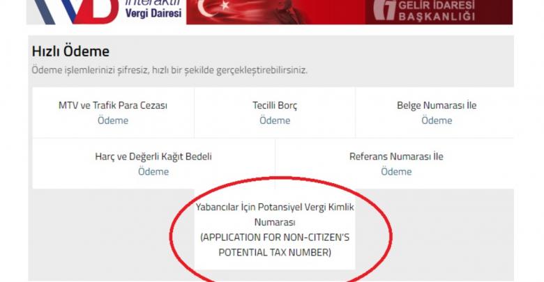 yabancılar için vergi numarası